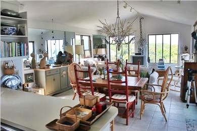 Eastham Cape Cod vacation rental - View from Kitchen towards dining/living area