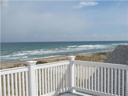 East Sandwich Beach  Cape Cod vacation rental - 2nd floor deck looking over the water and beach