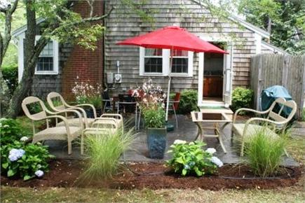 Brewster Historic District Cape Cod vacation rental - Patio off the kitchen