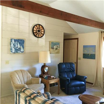 Chatham Cape Cod vacation rental - Bright, open living room with large flat screen tv