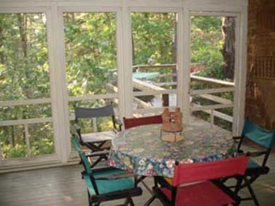 Wellfleet Cape Cod vacation rental - Screened in porch in the trees