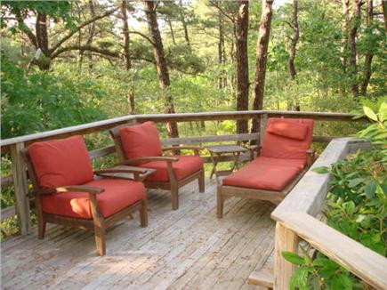 Wellfleet Cape Cod vacation rental - Deck in the pine forest