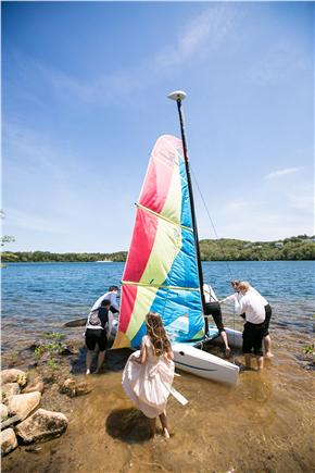 Dennis Village, Scargo Lake Cape Cod vacation rental - Go sailing in a Hobie Wave, or go in canoe or kayak on lake
