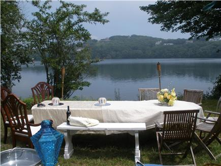 Dennis Village, Scargo Lake Cape Cod vacation rental - Dine on property with a view of Scargo Lake and Scargo Hill