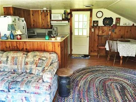 Eastham Cape Cod vacation rental - Living room  looking into kitchen and dining area