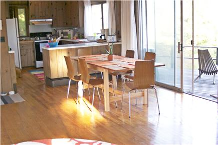 Wellfleet Cape Cod vacation rental - Living/dining/kitchen area opens thru sliders to the deck