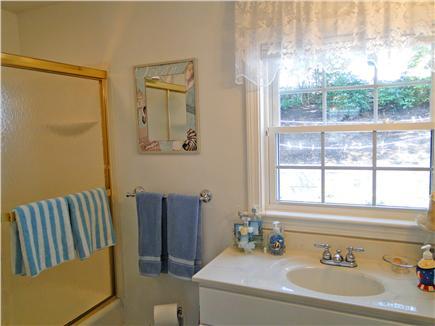 Harwich near restaurants, shopping, and deep sea fishing, also located near ferry to Nantucket Cape Cod vacation rental - Main floor full bathroom