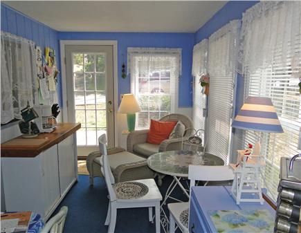 Harwich near restaurants, shopping, and deep sea fishing, also located near ferry to Nantucket Cape Cod vacation rental - Sun porch, great for breakfast and quiet time