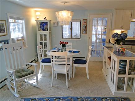 Harwich near restaurants, shopping, and deep sea fishing, also located near ferry to Nantucket Cape Cod vacation rental - Dining area