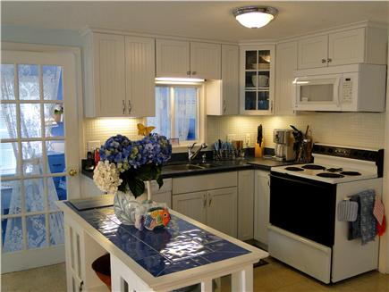 Harwich near restaurants, shopping, and deep sea fishing, also located near ferry to Nantucket Cape Cod vacation rental - Newly refinished kitchen with new countertops and cabinets