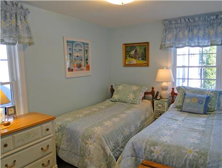 Harwich near restaurants, shopping, and deep sea fishing, also located near ferry to Nantucket Cape Cod vacation rental - Twin bedroom on first floor - adjacent to bathroom