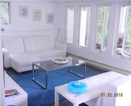 East Sandwich- West Barnstable Cape Cod vacation rental - Family Room leads out to covered patio