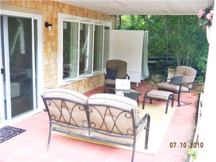 East Sandwich- West Barnstable Cape Cod vacation rental - Outdoor patio off family room