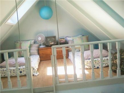 Harwichport Cape Cod vacation rental - Loft area bedroom with two twin beds and bean bags!!