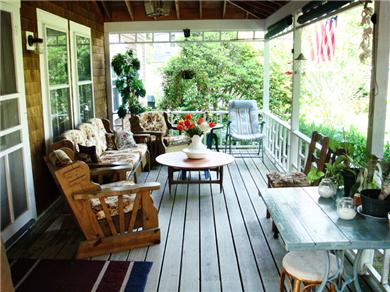 Plymouth, Manomet Bluffs MA vacation rental - Start your day with coffee and the newspaper on the porch ...