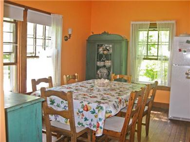 Plymouth, Manomet Bluffs MA vacation rental - Warm and cozy dining area ...