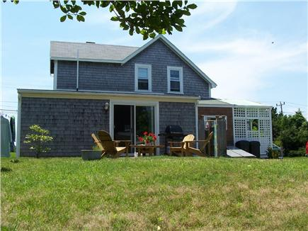West Yarmouth Cape Cod vacation rental - Large backyard with patio, Weber grill, outdoor shower,H/C water