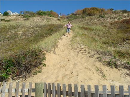 Truro Cape Cod vacation rental - Dune path to beach