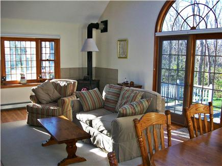 North Eastham Cape Cod vacation rental - Family Room with slider to deck