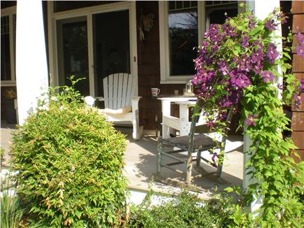 Brewster Dennis town line Cape Cod vacation rental - Front Porch