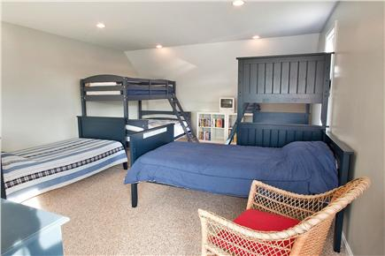 West Yarmouth Cape Cod vacation rental - Second floor bedroom with bunks. Sleeps 7.