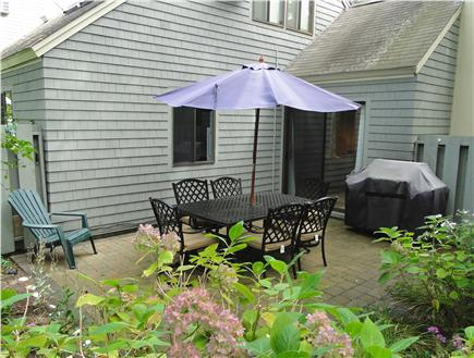 Brewster Cape Cod vacation rental - Patio with gas grill, seating for 6, much privacy