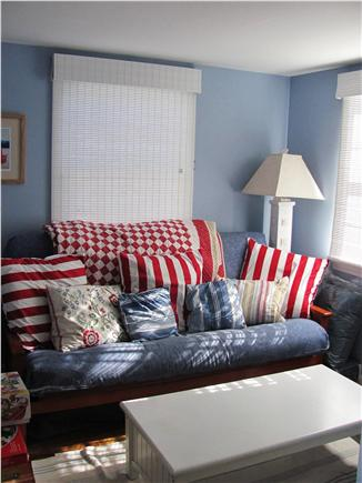 Eastham Cape Cod vacation rental - Futon Room with TV, Puzzles & Board Games