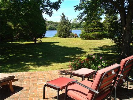 Brewster Cape Cod vacation rental - Back patio view to pond