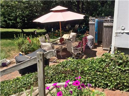 Orleans Cape Cod vacation rental - Outside shower, patio, fire pit