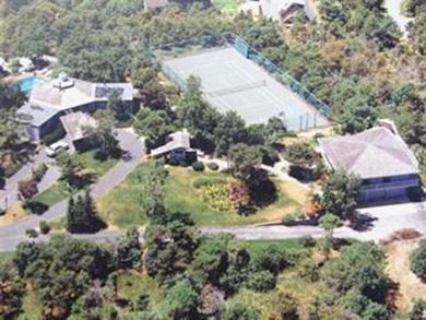 Truro Cape Cod vacation rental - Aerial view with guest house on right