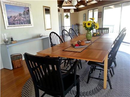 Truro Cape Cod vacation rental - Family-style dinning table