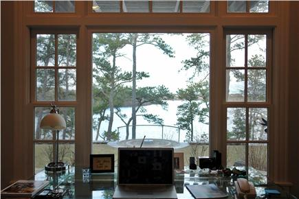 Brewster Cape Cod vacation rental - Library Desk overlooking Sheep Pond