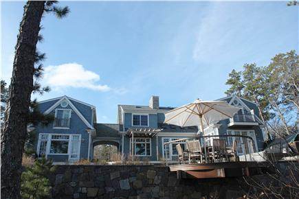 Brewster Cape Cod vacation rental - Back of house from Sheep Pond