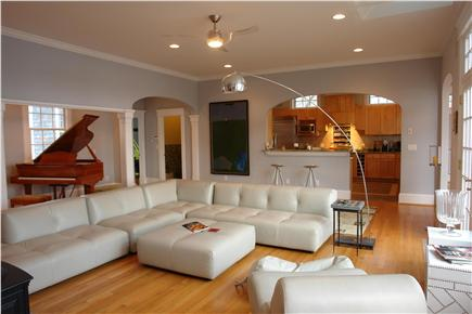 Brewster Cape Cod vacation rental - Living Room in Main House with digital player piano
