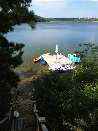 Brewster Cape Cod vacation rental - Big 12' x 16' dock with umbrella and chairs