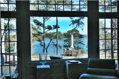 Brewster Cape Cod vacation rental - View from Living Room in Main House