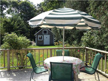 Osterville Osterville vacation rental - Enjoy a morning cup of coffee, grill dinner on deck off kitchen!