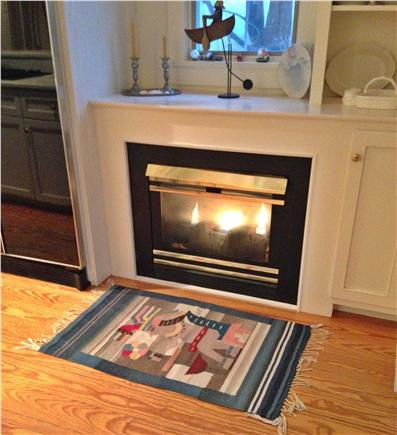 Osterville Osterville vacation rental - Gas fireplace across from kitchen sitting area adds cozy touch