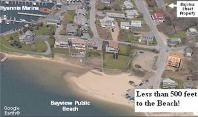 West Yarmouth Cape Cod vacation rental - Aerial view with location