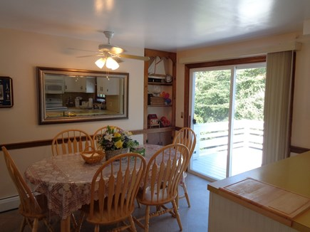 West Yarmouth Cape Cod vacation rental - Dining area with view of deck