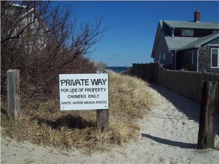 Plymouth ~ White Horse Beach MA vacation rental - Walkway to beach.