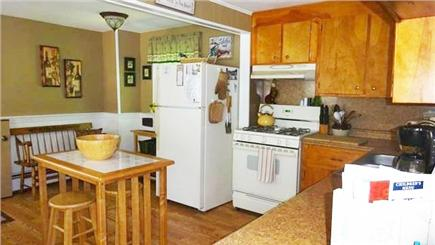 Onset MA vacation rental - Kitchen with dishwasher and gas stoveMaster