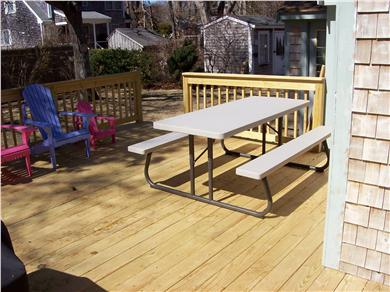 South Yarmouth Cape Cod vacation rental - Large picnic table.