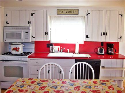 South Yarmouth Cape Cod vacation rental - Kitchen with dishwasher.