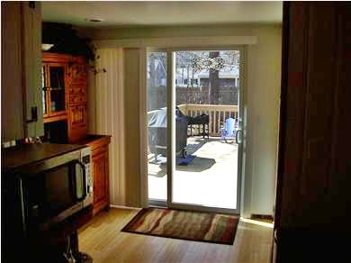 South Yarmouth Cape Cod vacation rental - Slider leading to deck.