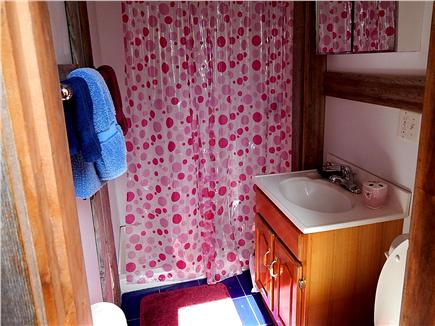 No. Truro Cape Cod vacation rental - Full bathroom with large shower adjoins bedroom