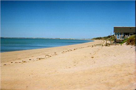 No. Truro Cape Cod vacation rental - Cold Storage Beach: looking toward Wellfleet harbor