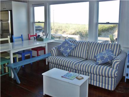 Sagamore Beach, Sandwich Sagamore Beach vacation rental - Living Room and Dining Table with View