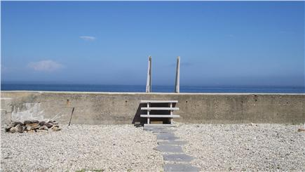 Marshfield, Brant Rock MA vacation rental - View from lower deck with large private ''front yard''