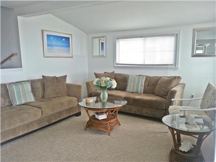 Marshfield, Brant Rock MA vacation rental - Living Room - seating for 8-9 with double slider doors to deck